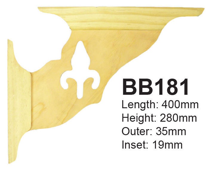 BB181 Matching Motif Post Corner Bracket for Baluster and Frieze Motif Panels