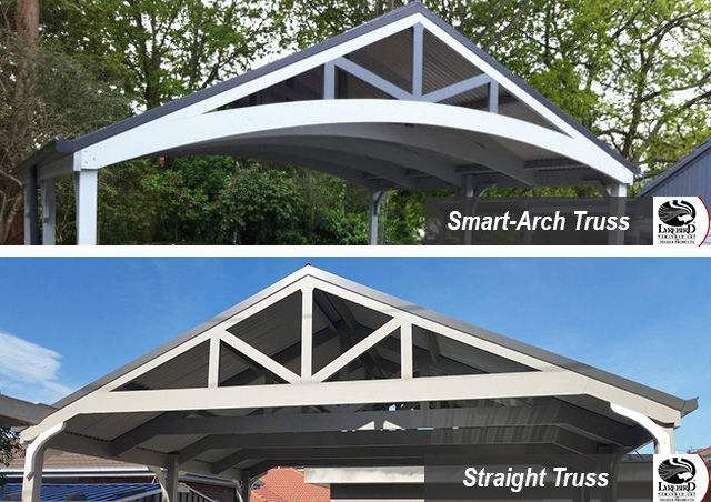 Carport Trusses - Smart-Arch or Straight Truss