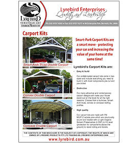 Download Lyrebird Enterprises Carports Brochure