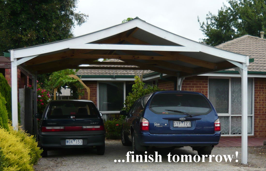 Concave Roofed Carport Kit