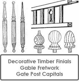 Decorative Finials Fretwork & Gate Post Capitals