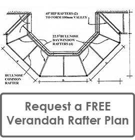 Request a FREE Verandah Rafter Plan that Complies to Building Code