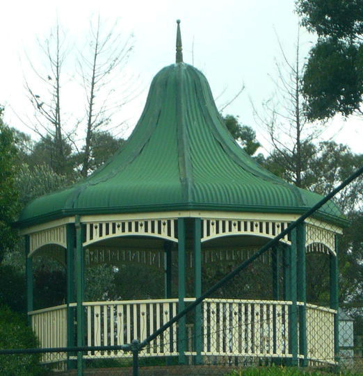 Large Bell Shaped Gazebo provided in Kit form by Lyrebird Enterprises