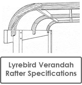 Lyrebird Were the FIRST to Manufacture Bullnose, Concave and Convex Verandah Rafters to Building Code