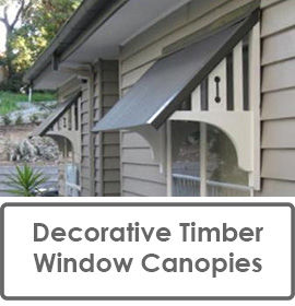 Decorative Timber Window Canopies