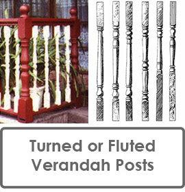 Turned Verandah Posts for Fluted Verandah Posts