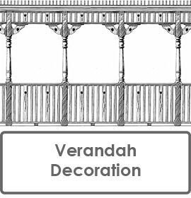 Verandah Decoration - Balustrading, Frieze Panels, Post Corner Brackets