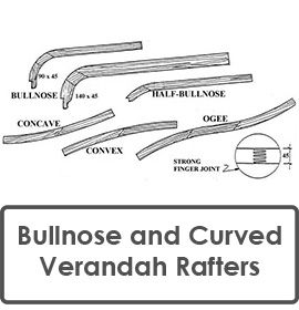 Bullnose and Curved Verandah Rafters