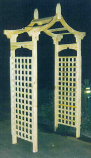 Garden Arch - Kowloon Profile - With Lattice Sides