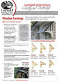 Condensed Brochure - Window Awnings & Carports